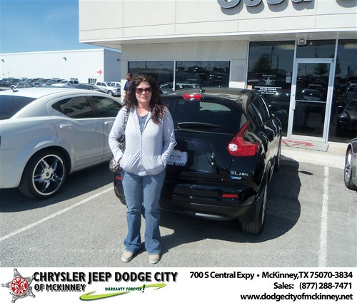 Dodge City of McKinney would like to say Congratulations to Denise Moer on the 2012 Nissan Juke by Dodge City McKinney Texas