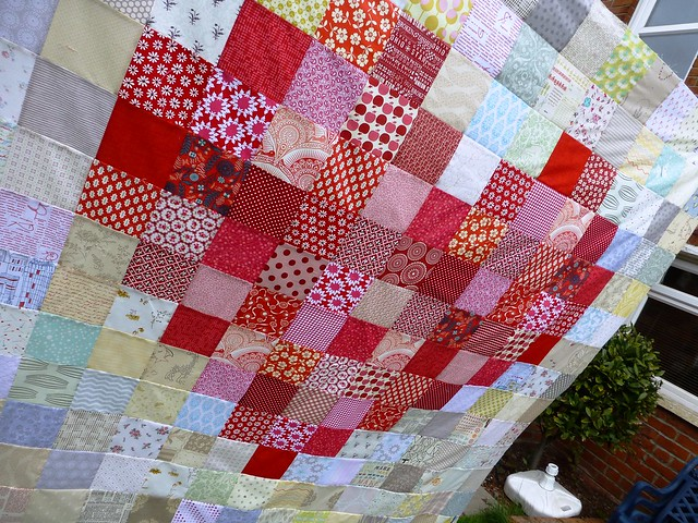 Pixilated Heart Quilt Top