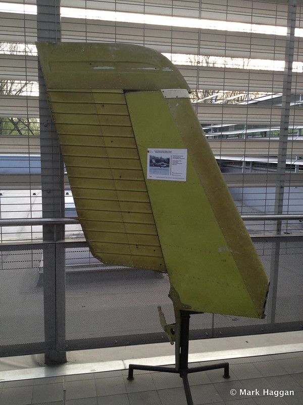 Vertical stabiliser from PZL-110 Koliber at the Polish Aviation Museum, Krakow