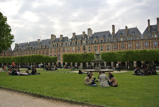 Place de Vosges on a Sunday