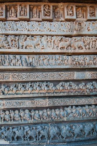 Friezes of Halebid temple