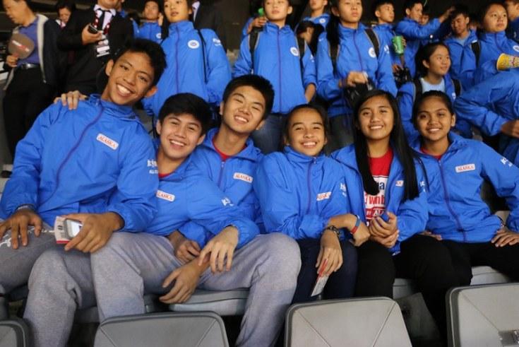 Jr NBA Philippines enjoying themselves at the NBA Global Games China 2015