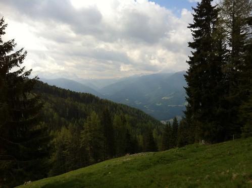 Ausblick beim Aufstieg zur Grünbachalm