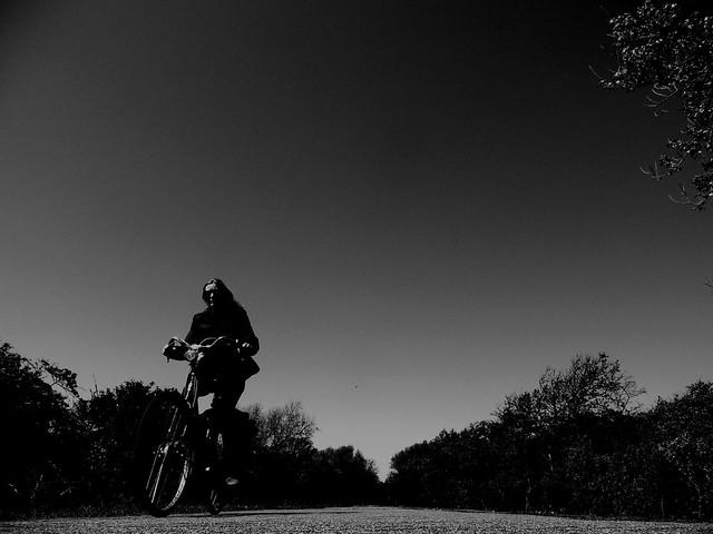 Biking in the dunes.