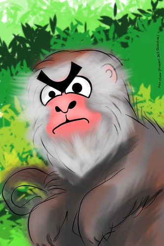 """Angry Macaque"" (#144: Project 365 Sketches"