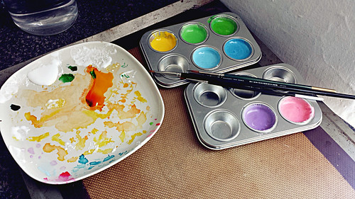 Royal icing paint