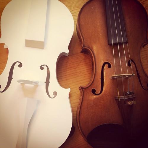 Paper Violin & real violin