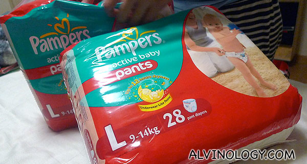 Pampers Active Baby Pants diapers