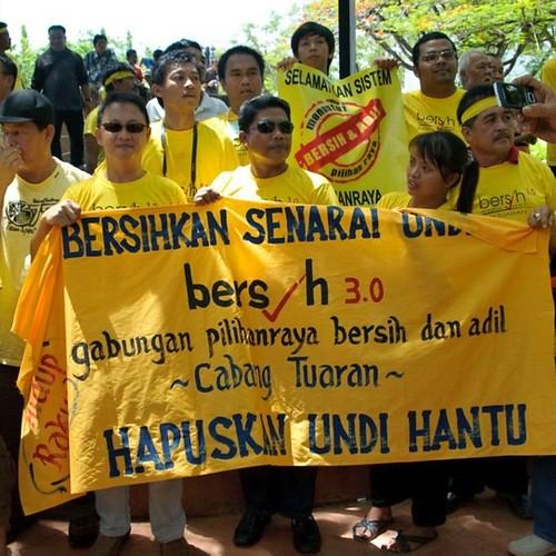 Bersih 3.0 Kota Kinabalu Hapuskan undi hantu.