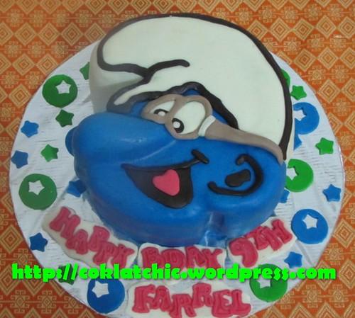 Cake Smurf Kacamata / Cake Brainy smurf