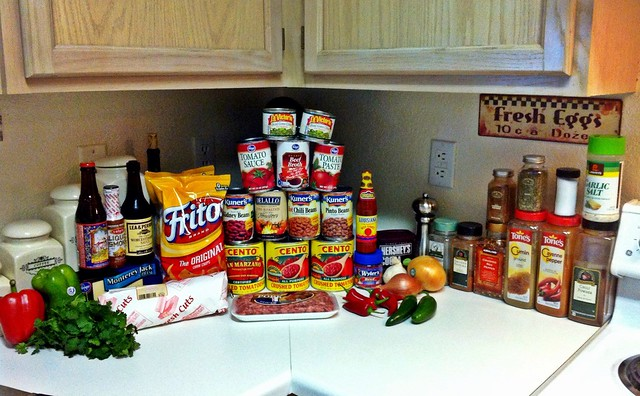 Making chili