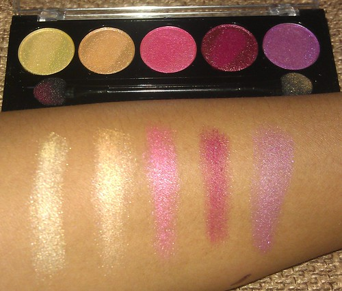 L.A. Colors 5 Metallic Eyeshadow Wildflower swatches