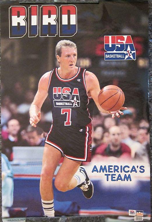 Larry Bird Team USA poster