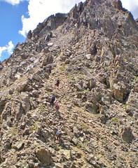 Climbers Ascending Ellingwood Ridge of La Plata