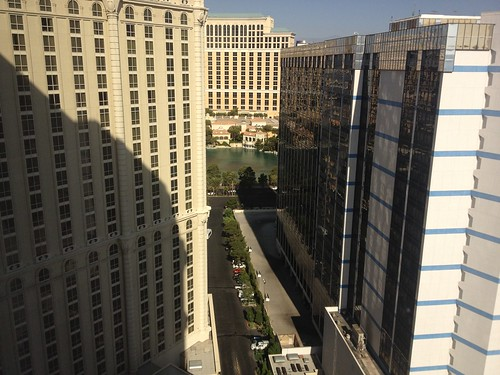 View from our room at Paris Las Vegas