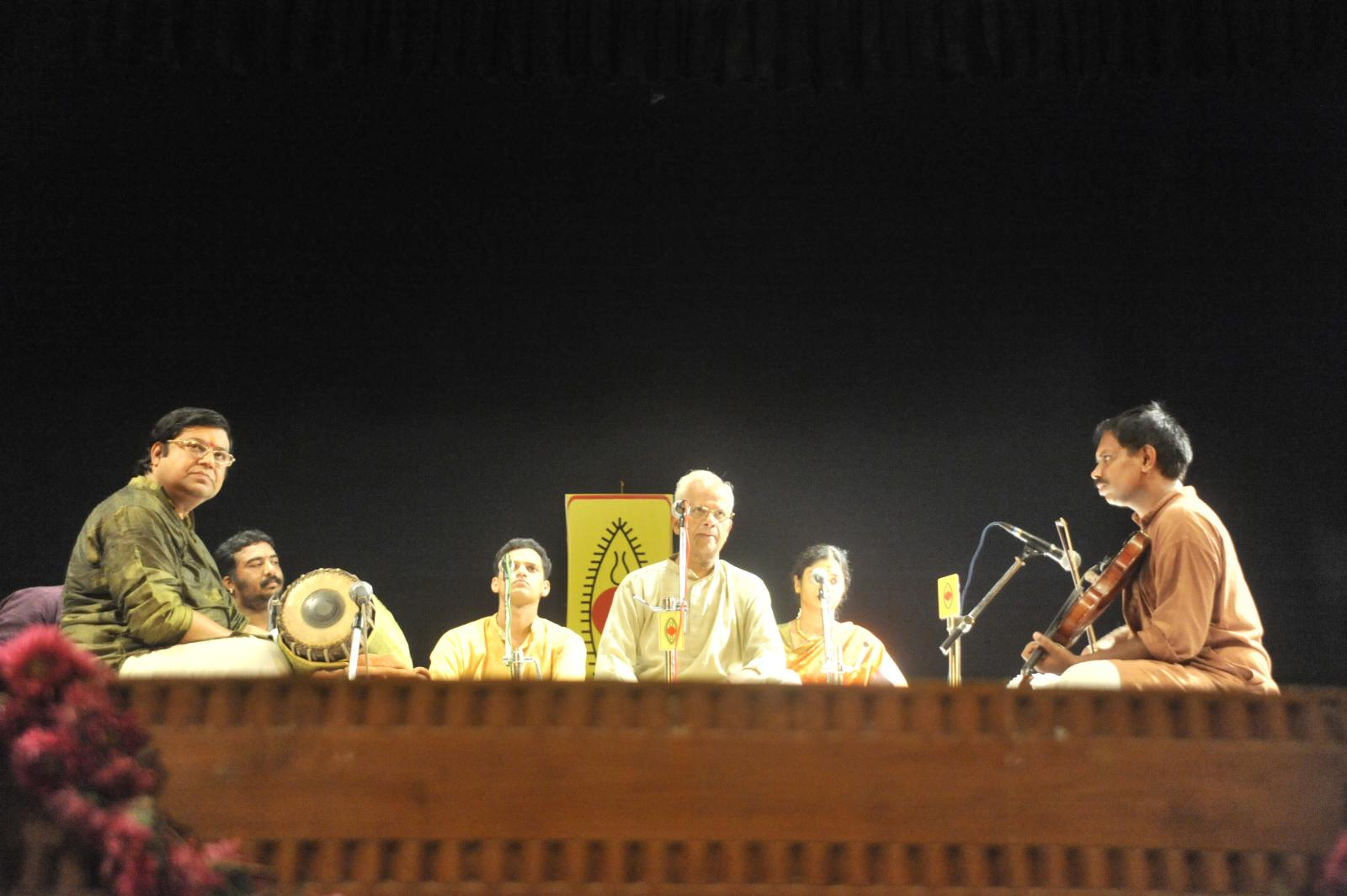 from the first seat, in the face, T V Sankaranarayanan, Carnatic Vocal