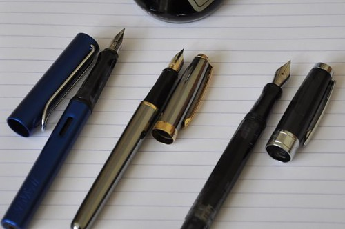 Fountain pens.