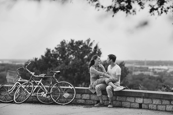 002_karen seifert photography brooklyn new york city richmond virginia engagement wedding bride groom couple love downtown bikes picnic suit dress tattoos