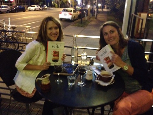 book club at cafe presse patio