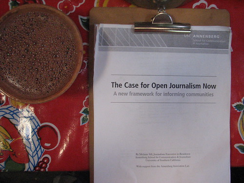 The Case for Open Journalism (and a cup of hot chocolate)