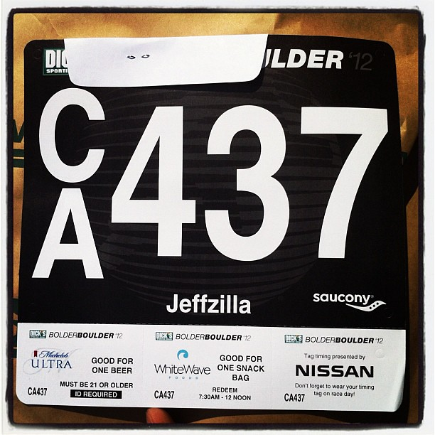 Picked up my Bolder Boulder race number... Looking forward to running on Monday!