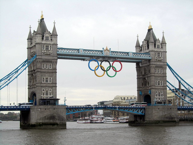 Olympic Rings at Tower Bridge