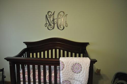 crib and monogram