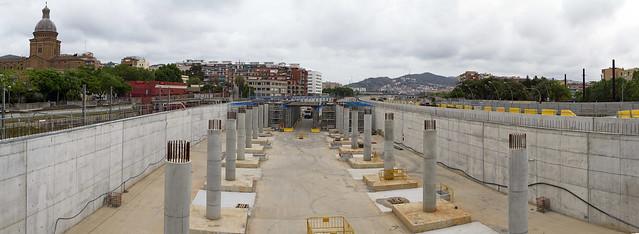 Panorámica estación de la estación de Sant Andreu - 18-05-12