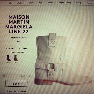 How rad are these martin mergiela boots. In white nonetheless. I think I will have them made. <3 #shanghai