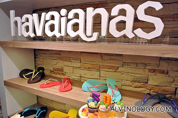 Samples of customised Havaianas flip-flops