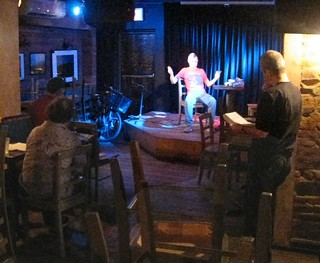 Boog Poetry Theatre rehearsal at The Sidewalk Cafe