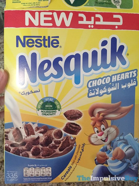 Nestle Nesquik Choco Hearts Cereal