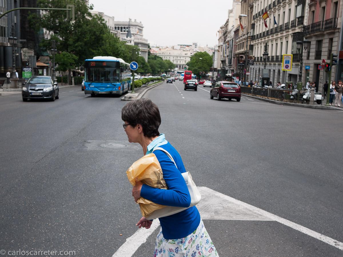 Japonesa suicida en la calle de Alcalá