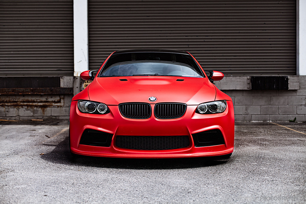 Flat Red Bmw E92 M3 Photoshoot