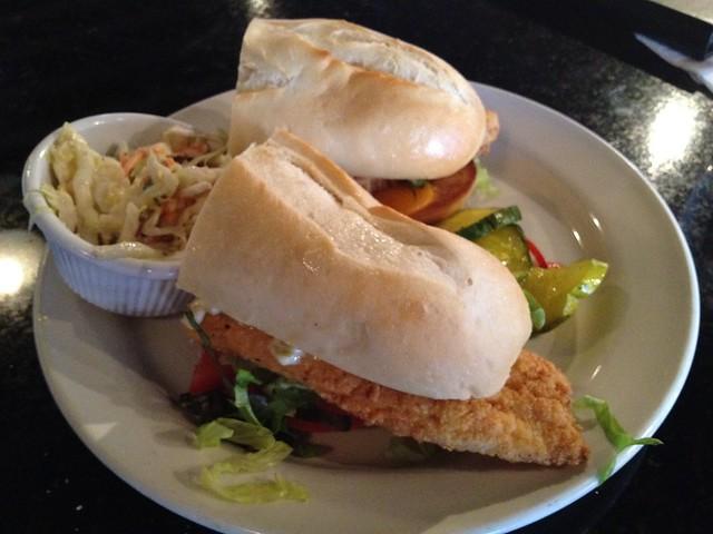 Fried catfish sandwich - Magnolias