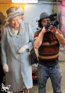 HRH Queen and MBW at Banksy Cans Festival 2008