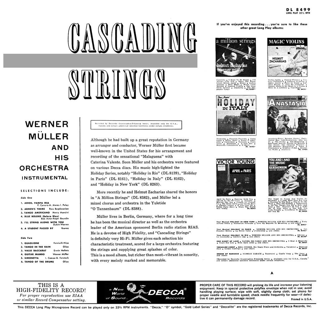 Werner Müller - Cascading Strings