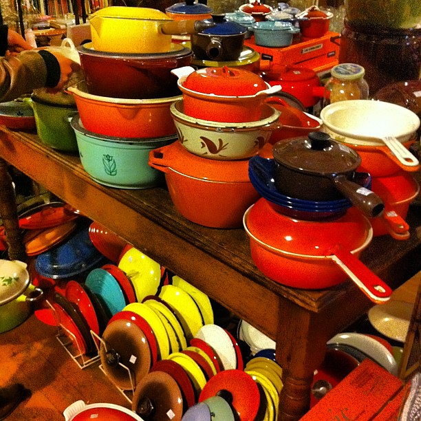 cache of enameled cast iron at Cookin'