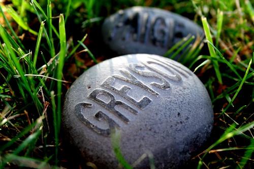 Greyson and Me on Rocks