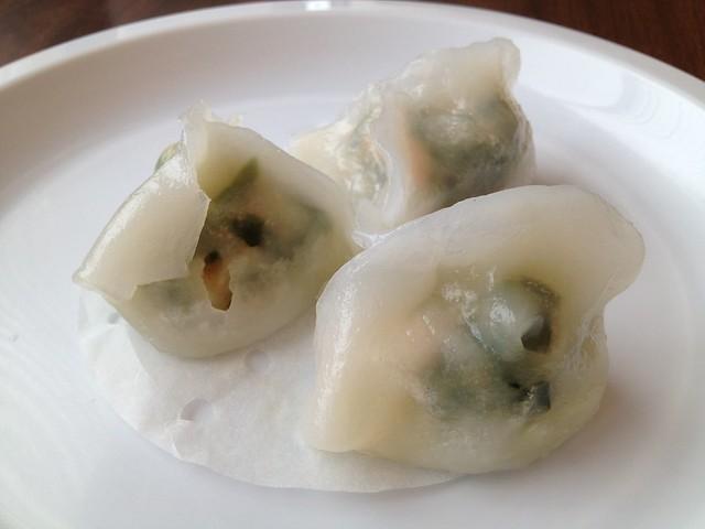 Green chives shrimp dumplings - Grand Palace Restaurant
