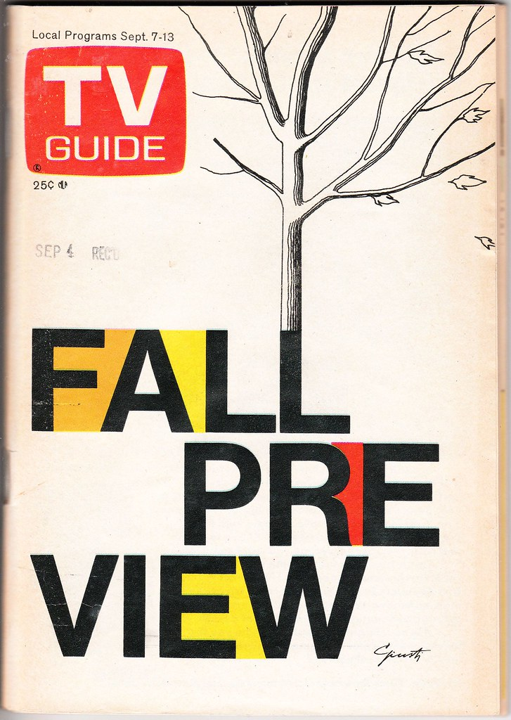 1974 TV Guide Fall Preview issue cover