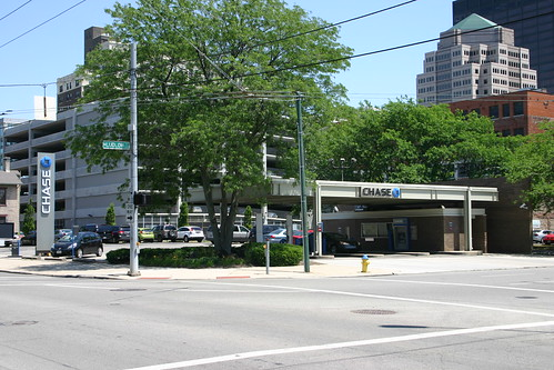 Chase Bank, southeast corner of Ludlow and Monument, on site of former D. W. Schaeffer home (Photo 2012)