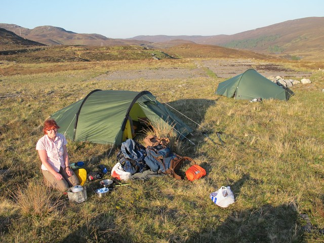 Wild camping spot at Orrin Reservoir