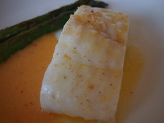 Detail: Braised turbot with smoked roe