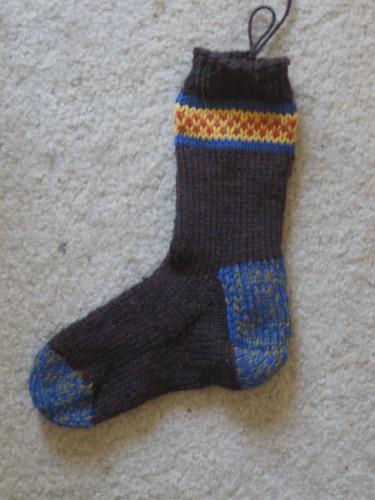 Checkerboard accent sock