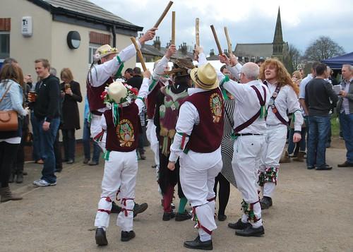 Leeds Morris Men Thorner Beer Festival
