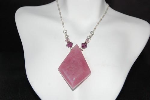 Amethyst and Swarovski Crystal Necklace