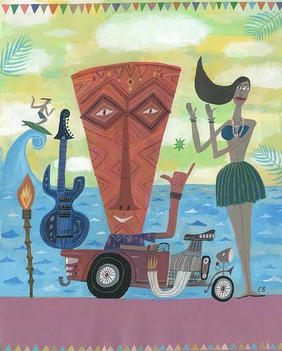 Tiki Fest by Calef Brown