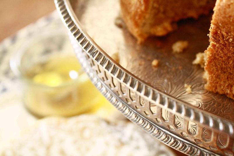 Honey/Cinnamon cake close up