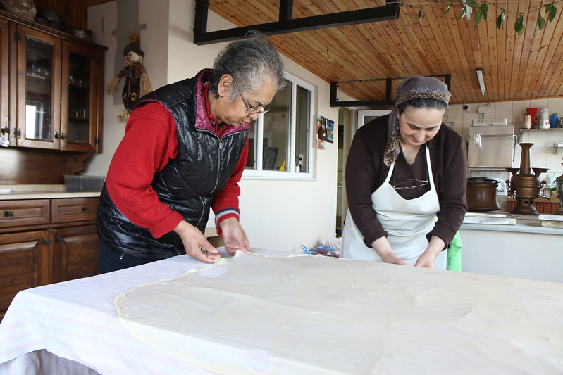Making borek, Zelis Ciftligi